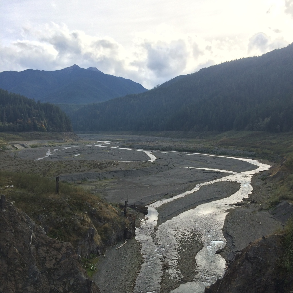 Views of the valley from the old Elwha River Dam
