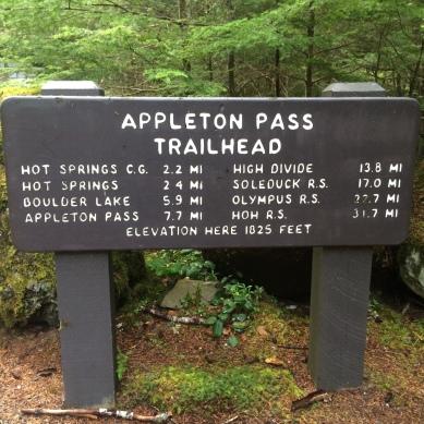 The Appleton Pass Trailhead