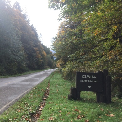 Sign for the Elwha Campground