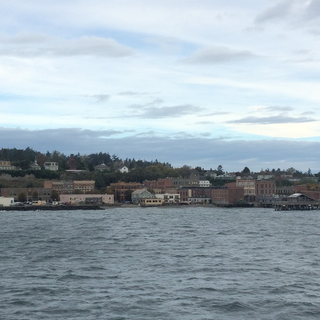 Looking into the adorable of Port Townsend right before making port.