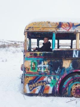 Claire Driving #thatPNWbus